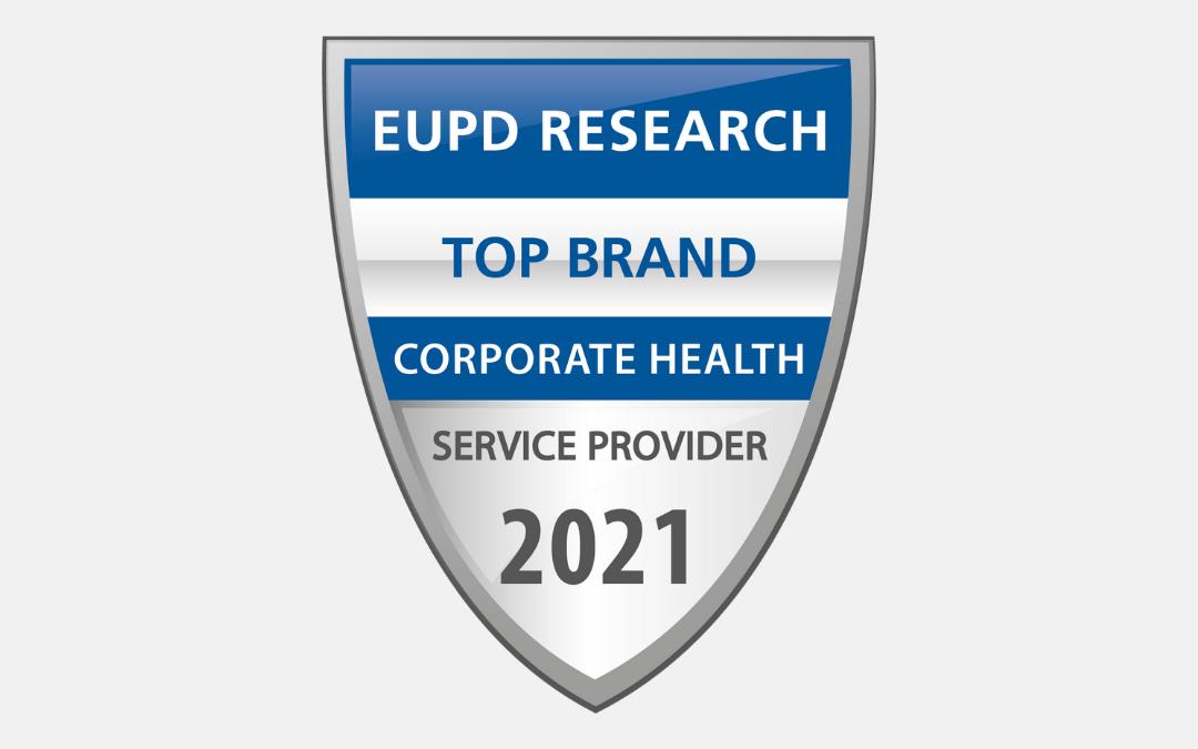 """Auszeichnung zur """"Top Brand – Corporate Health"""" gewonnen"""
